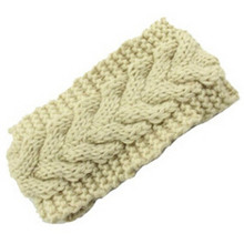 11Colors Freeshipping Beauty Fashion Flower Crochet Knit Knitted Headwrap Headband Ear Warmer Hair Muffs Band Winter(China)