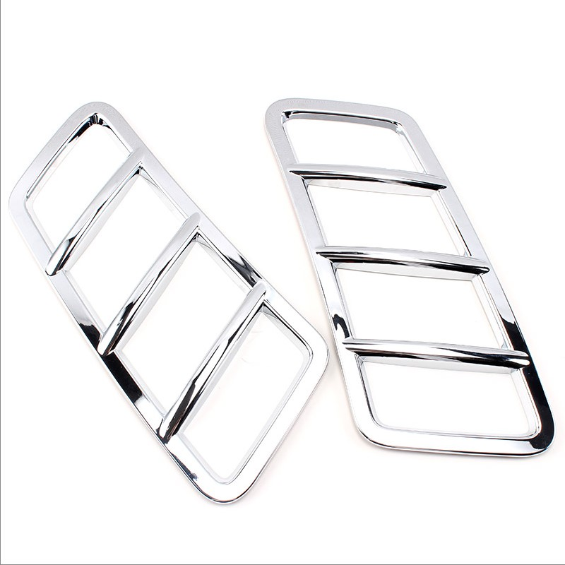 2pcs ABS chrome car styling exterior front hood air cover engine roof hood sticker trim for Mercedes Benz GLE W166 coupe c292<br>