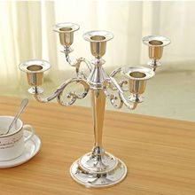 Silver/Gold/Black/Bronze metal candle holder 5-arms candle stand 27cm tall wedding event candelabra candle stick