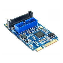 New Motherboard Mini PCI Express to Dual USB 3.0 19-pin Expansion Card Adapter PCI-E to 2 ports USB 3.0 SATA Adapter EM88(China)