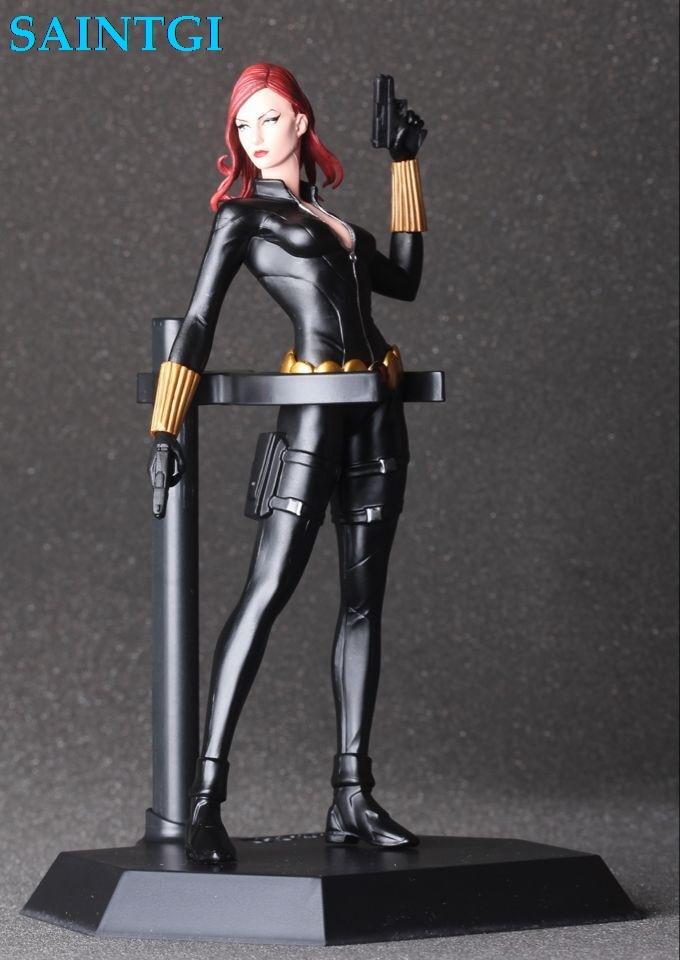 SAINTGI  Black Widow AvengersII Action Figures Hot Toys Super Hero Marvels PVC 18cm Model Gifts Mjolnir Garage Brinquedos Anime<br>