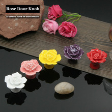 2pcs/Lot High Quality European Style Rural Ceramic Drawer Cabinet Cupboard Door Knob Furniture Handle(China)