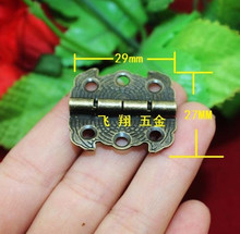 A11 Antique Butterfly hinge 29MM*27MM wooden box gift packaging decoration hinge link plates antique 90 degrees outside(China)