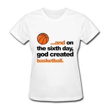 God Created Basketballer Women's T-Shirt Funny Brand Femme Cotton Hipster T Shirt T Shirts Short Sleeve Lady Top Shirts(China)