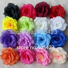 Wholesale 100pcs/lot Dia:10cm Silk Rose Heads Artificial Flower Open Roses for Kissing Ball Flowers DIY Wedding Supplies