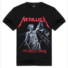 2017 new men's spring and summer fashion 3 d short sleeve T-shirt METALLICA U.S. nuclear metal band Europe and the United States