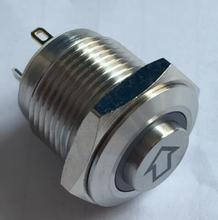 ONPOW 16mm ARROW etched high head illuminated  push button switch GQ16H-10E/J/R/12V/S-Arrow symbol