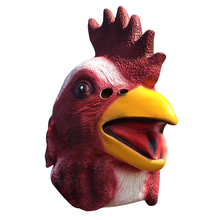 1pc Animal Full Face Rooster Mask Halloween Prop Carnival Latex Rubber Chicken Head Masks Costumes Fancy Dress Party Supplies(China)