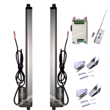 "Set of 2PCS 450mm/18"" Inch Stroke DC 12V Linear Actuators & Wireless Remote Control Kits & Brackets-1500N/330lbs Load DC Motor"