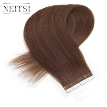 "Neitsi Russian Straight Skin Weft Hair Tape In Remy Human Hair Extensions 16"" 1.5g/s 40pcs 14 Colors"