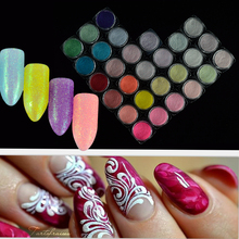 1Box Laser Nail Glitter Powder Dust Sugar Ultra-fine Manicure Chrome Pigment Nail Art Decorations Pastel Nail Dust BETY06-33