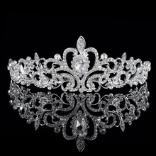 Luxury Wedding Bridal Crystal Tiaras Crowns Princess Queen Pageant Prom Rhinestone Veil Tiara Headband Wedding Hair Accessories(China)