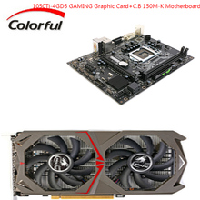COLORFUL GeForce GTX1050Ti Graphics Card 4GD5 With 2 Fans GTX1050Ti-4GD5 GAMING+Motherboard C.B150M-K LGA1151 Socket Processor(China)