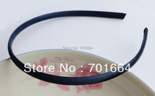 10PCS 7mm navy fabric wrapped plain plastic hair headbands for kids boutique,fabric covered plastic headbands