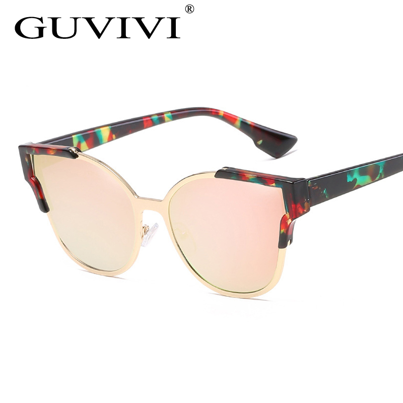 GUVIVI Women's Cat Eye Sunglasses Women Brand Designer Sunglasses Classic Retro Sun Glasses Oculos UV400 Oculos de sol feminino(China (Mainland))