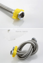HIGH  quality kitchen hose water cold and hot stainless steel plumbing shower hose one paris 1/2' faucet accessories