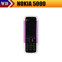 Original phones Nokia 5000 GSM unlocked phone 1.3MP Camera Bluetooth FM MP3 JAVA