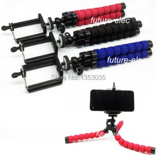 3Pcs Red/Blue/Black Octopus Leg Flexible Tripod Bracket Stand Holder for iPhone 4 4S 5 5S 5C 6 plus Samsung i9300 i9500 S4 Note2