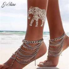 Brand Design New Summer Style Layers Chain Anklets Zinc Alloy Crystal Beads Ankle Bracelet Foot Jewelry Anklet 1 pcs