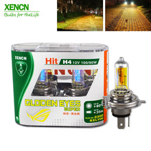 XENCN H4 2300K 12V 100/90W P43t Golden Eyes Xenon Super Yellow Light Off Road Used Halogen Car Bulbs Headlights(China)
