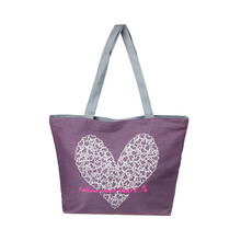 Canvas Tote Female Single Shoulder Shopping Bags Large Art Heart Printed Lunch Beach Bags Casual Tote Feminina Wholesale noJE6