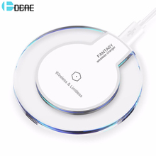 Buy DCAE QI Wireless Charger iPhone X/8 Samsung Galaxy S8 S8 Plus Note 8 S7 Edge Nexus 4/5 Ultra Thin USB Charging Pad for $3.98 in AliExpress store