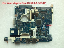 100% working notebook motherboard for Acer Aspire One D260 LA-5651P N450 CPU NAV50
