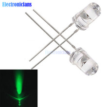 50PCS 5mm Green Round High Power Super Bright Water Clear LED Leds Lamp Bulb(China)