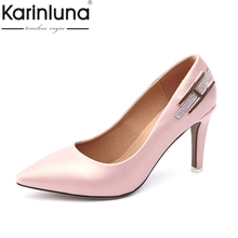 Buy KARINLUNA 2018 new large size 31-46 brand shoes woman fashion office lady shoe high heels wedding pumps women shoes for $30.18 in AliExpress store