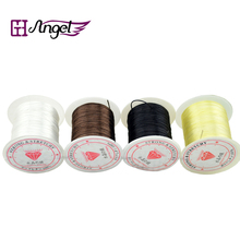 10pcs/rolls/spools 0.8mm, 10m Crystal Elastic Stretchy String Thread Hair Extension Thread/Wires free shipping(China)