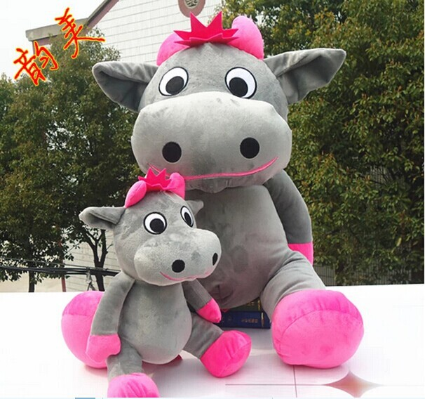 big lovely cow plush toy sitting gray cow stuffed doll big mouth cow toy birthday gift about 100cm<br><br>Aliexpress