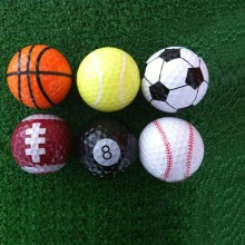 Colorful Golf Balls Six Different Sport Balls 6pieces for One Lot Funny Golf Balls Training Golf
