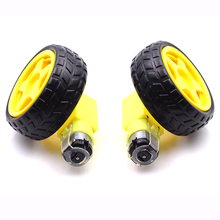 2Lot/package Deceleration DC motor + supporting wheels smart car chassis, motor / robot car wheels for arduino