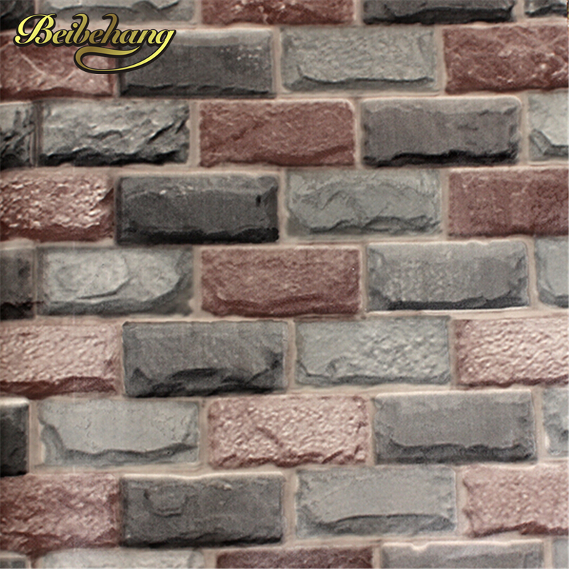 beibehang Thickening brick wall wallpaper for walls rustic TV background brick wall paper rolls, Papel de parede infantil<br>