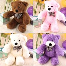 Hot! 4 Colors 60CM Stuffed Plush Bear Soft Doll Toy Gift Open Eyes Big Birthday Girl Kid New Sale(China)