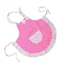 New Cute Pattern Baby Bibs Pink BowKnot Dot Sleeveless Apron Cotton Toddler Feeding Bibs Burp Cloths Children Painting Clothes