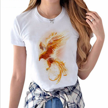 Fenix Flaming Phenix Printed T-shirt Hillbilly New Listing Hot Sale Women's Clothing Cool Casual Short Sleeves Modal O-Neck Tops(China)