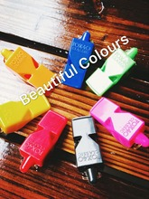 PROMOTION!!!Free Shipping 0.6USD/PC Colorful Fox 40 Whistle Sport Whistle Referee Whistle(China)