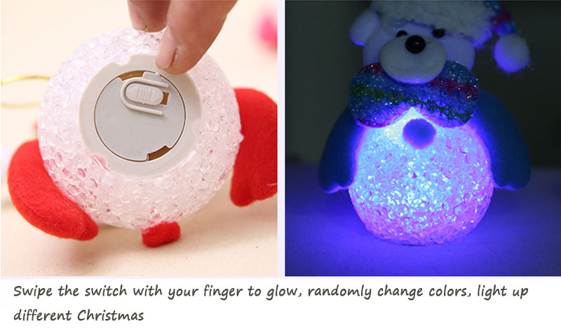 New Year Christmas Decoration for Home accessories Glowing EVA Snowman Nightlight Snowman Christmas Tree gifts Navidad Natal (21)