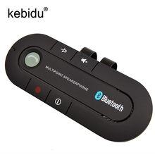 Kebidu Bluetooth 4.1 Slim Magnetic Handsfree Car Kit Speaker Phone FM Transmitter MP3 music Player Visor Clip Wireless(China)