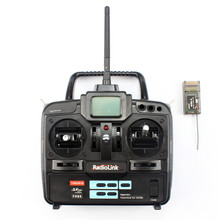 RadioLink T6EHP-E 2.4G 6Ch 6 channel RC Controller Transmitter and Receiver For FUTABA 6EX TREX T-REX 450 500 F00541