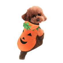 Pumpkin Dog Pooch Halloween Costume Clothes Pet Suit For Autumn Winter Pumpkin Pet Coat Fleece Super Cute Costume Pet Dog Cloth