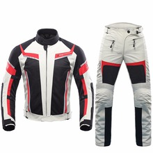 DUHAN Motorcycle Racing Suit Men motorcycle Summer Jacket and Pants Mesh Motocross Gear Riding Clothes 2017 new male CE approve(China)