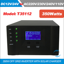 350W/12V10A & 24V10A Hybrid Pure sine wave Inverter with Solar Charger Controller LCD+LED Display Use in Solar power System