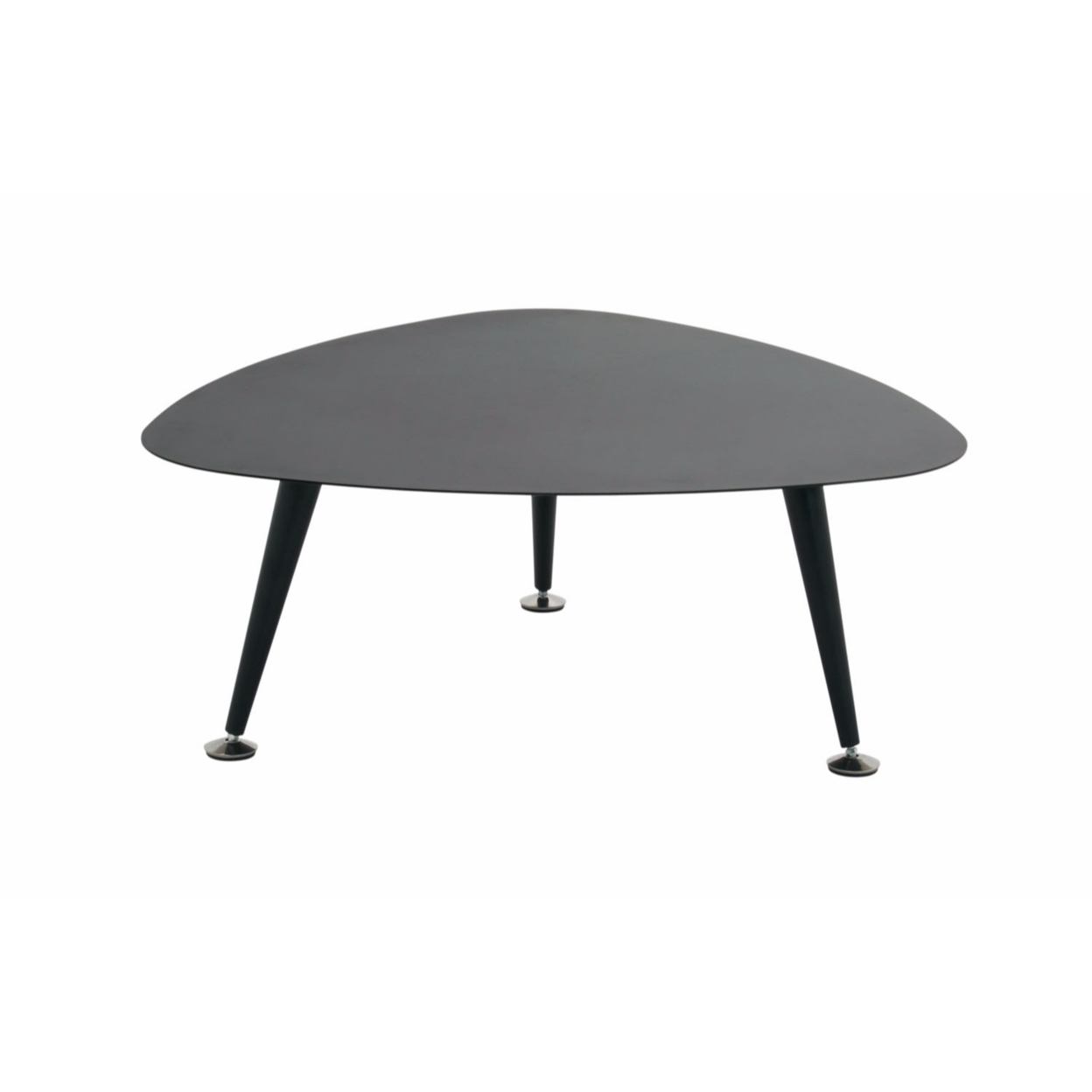 Offex Trilateral Accent Table 29, Black (2)