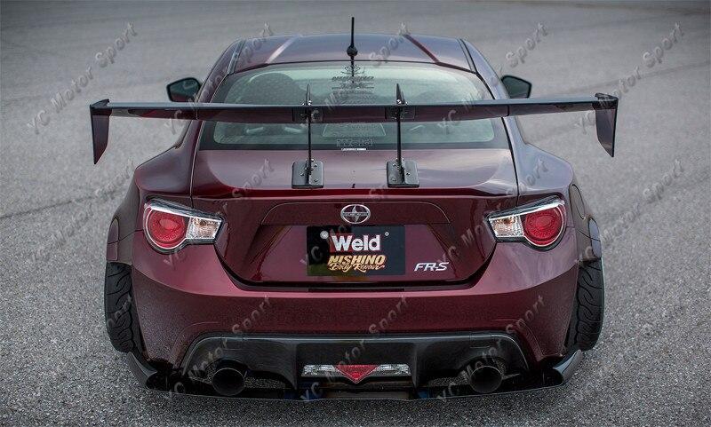 Universal Voltex Type 7 SWAN NECK Rear GT Wing Spoiler FRP (47)