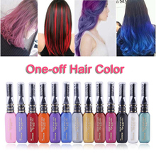 6 Colors One-time Hair Color Hair Dye Temporary Non-toxic DIY Hair Color Mascara Dye Crayons Cream Blue Grey Purple(China)