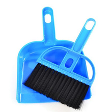 Hot Sale 1 Set Mini Brooms & Dustpans Computer Desk Brush Household Cleaning Tools 3 Colors Office Portable Cleaner Tools