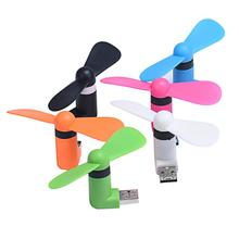 2 in 1 Micro and USB Mini Portable Fan Cooler For Android Phone Samsung S6 S5 S4 Note 4 3 Sony Z4 Z3 LG G4 G3 and PC Power Bank