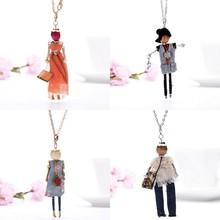 Europe and the United States new popular doll Necklace long chain of women's fashion jewelry  free shippings!
